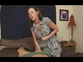 Mom give son's friend a Handjob  D10